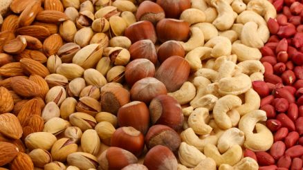 healthy snack of nuts