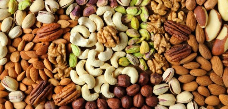 a mixture of healthy nuts